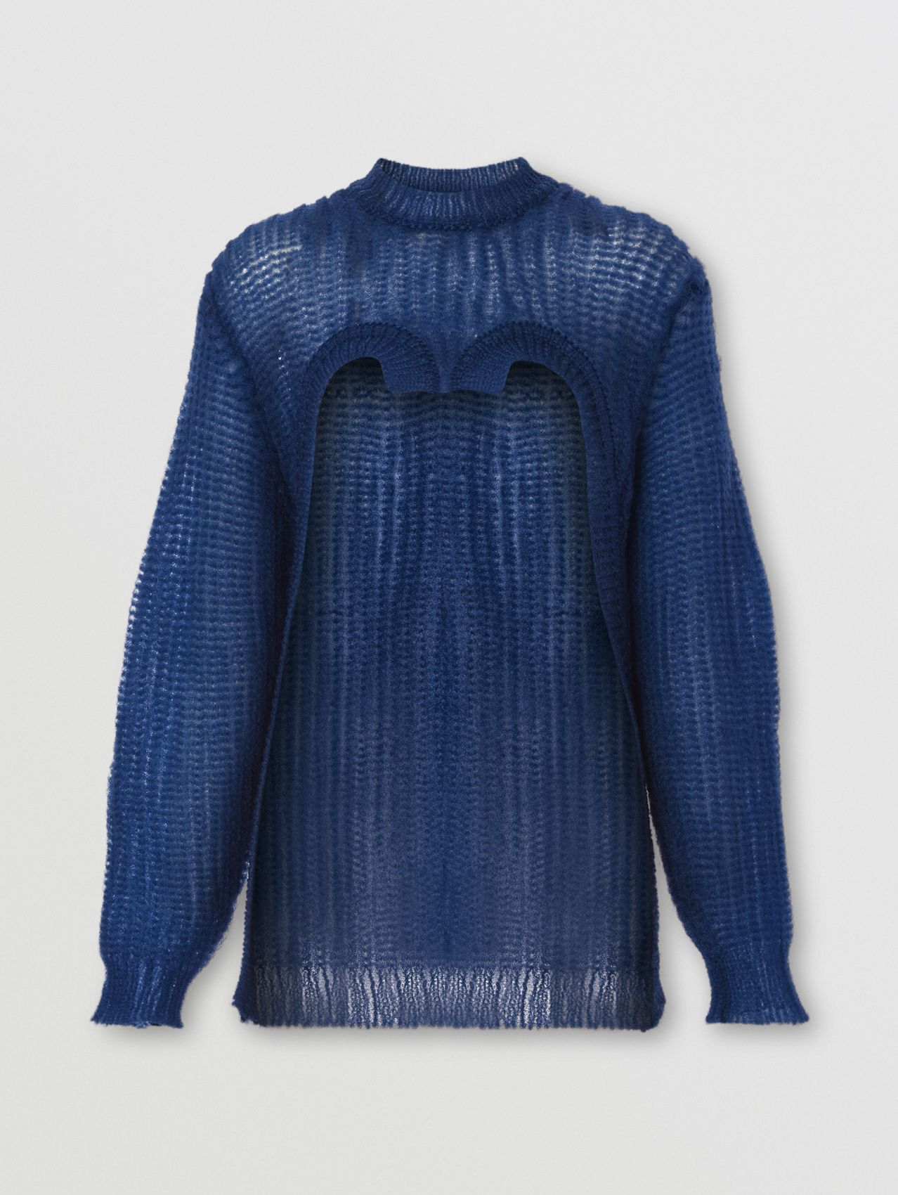 Technical Knitted Reconstructed Sweater in Warm Royal Blue