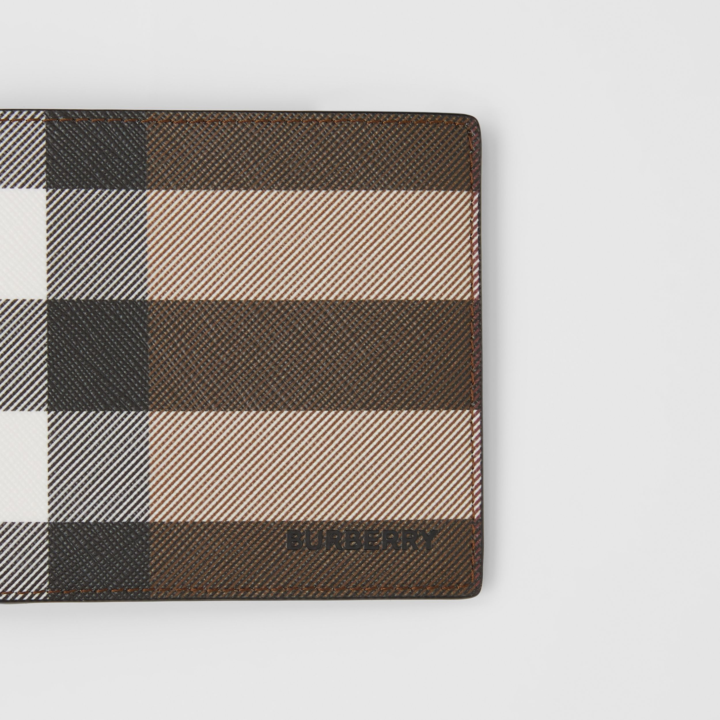 Check E-canvas International Bifold Wallet in Dark Birch Brown - Men | Burberry - 2