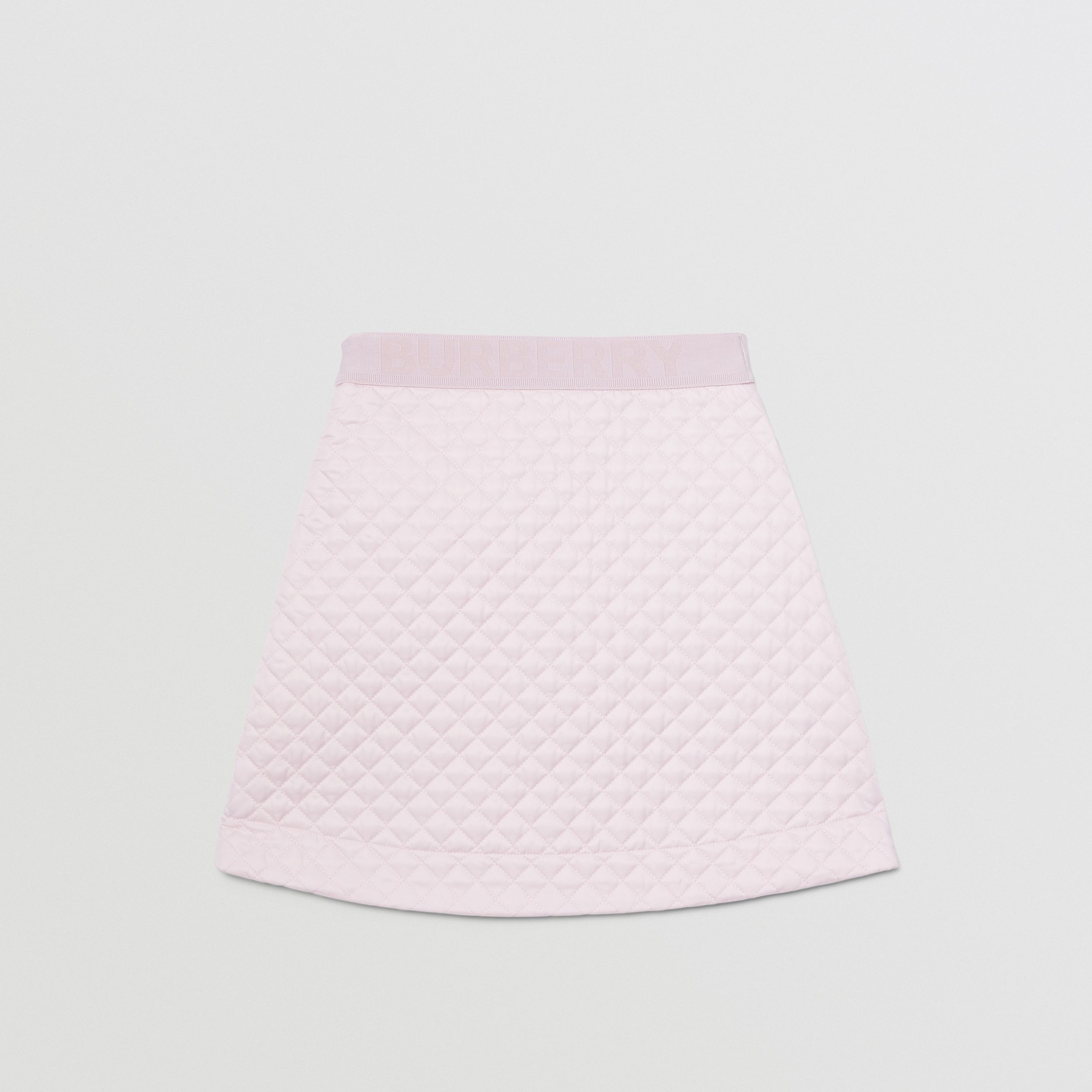 Monogram Quilted Panel Recycled Polyester Skirt in Pastel Pink | Burberry - 4
