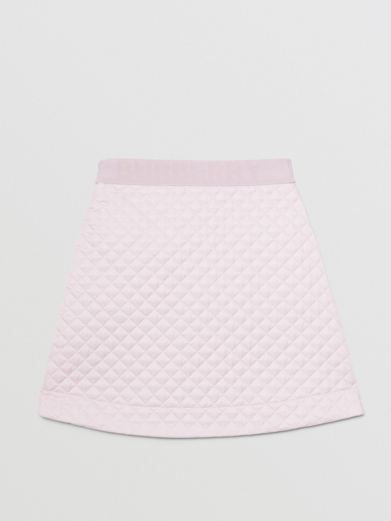Monogram Quilted Panel Recycled Polyester Skirt in Pastel Pink