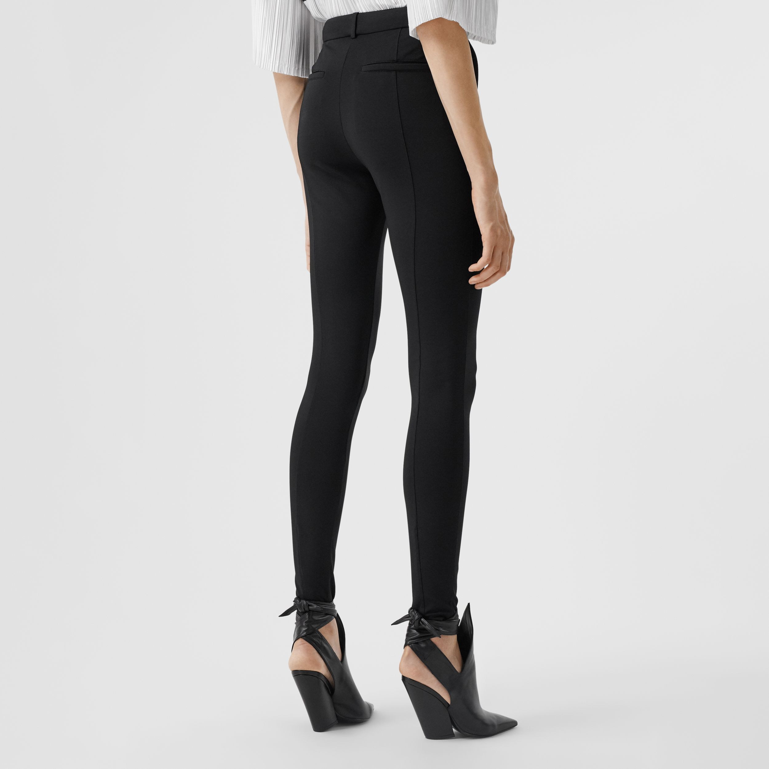 Stretch Jersey Jodhpurs in Black - Women | Burberry United States - 3