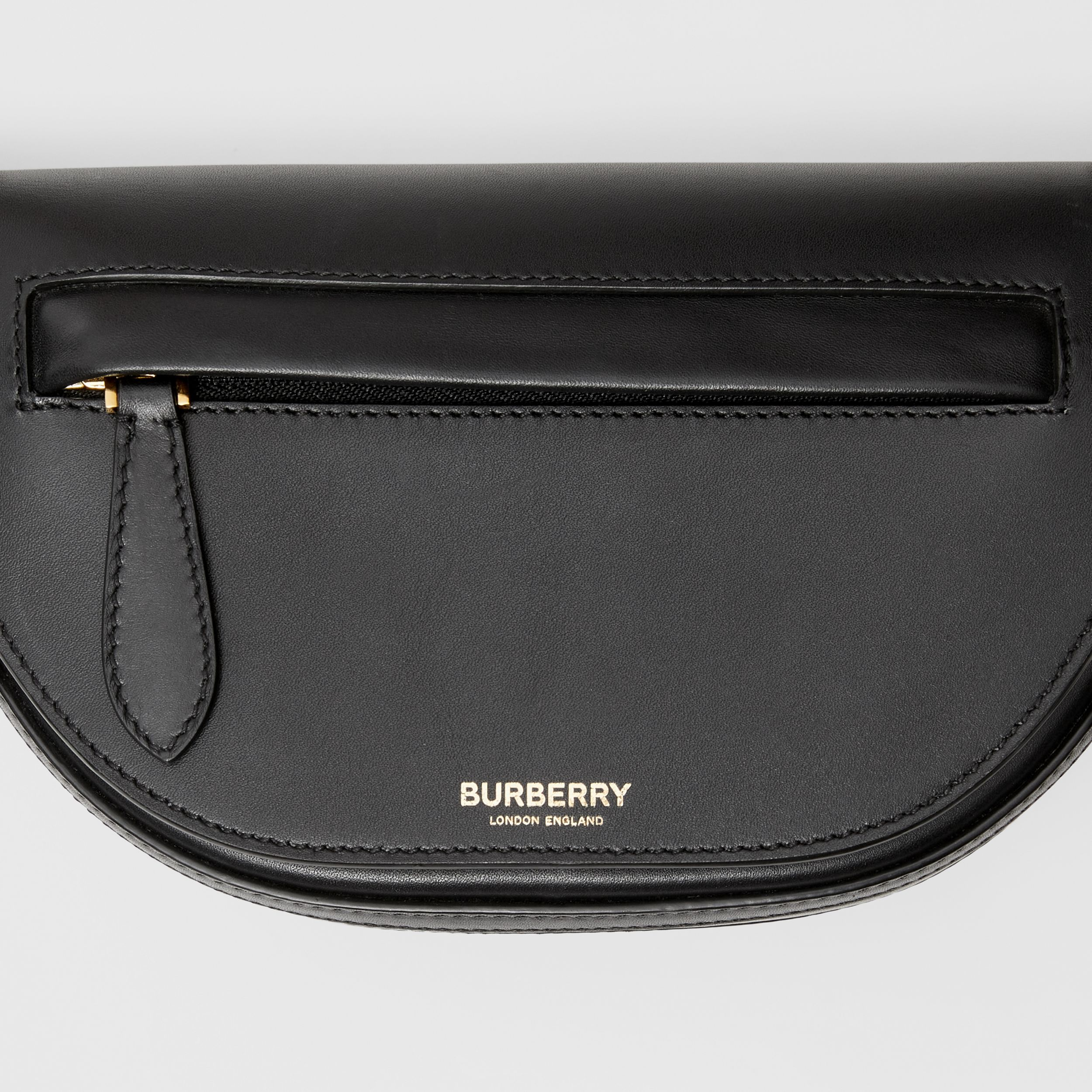 Mini Leather Olympia Bag in Black | Burberry United Kingdom - 2