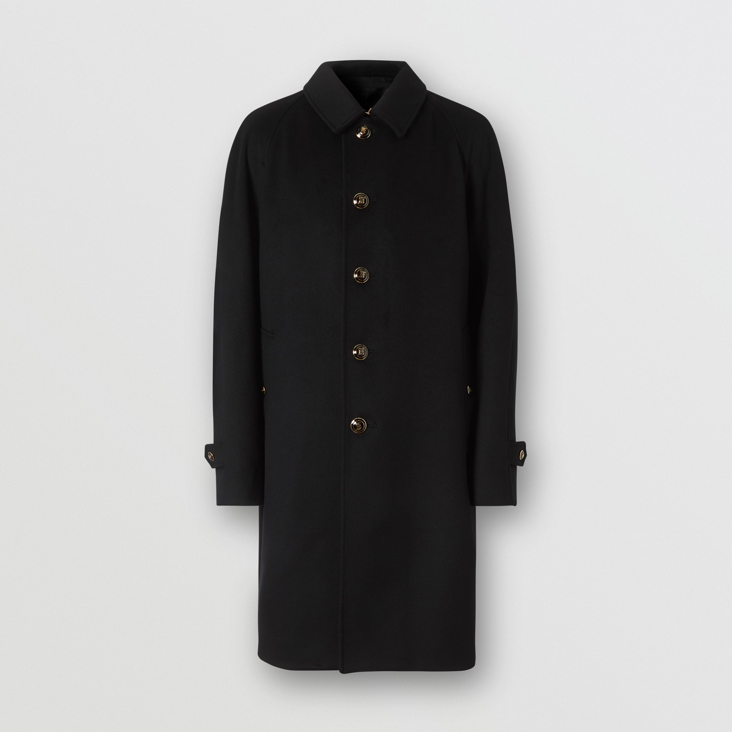 Button Detail Wool Cashmere Car Coat in Black - Men | Burberry - 4