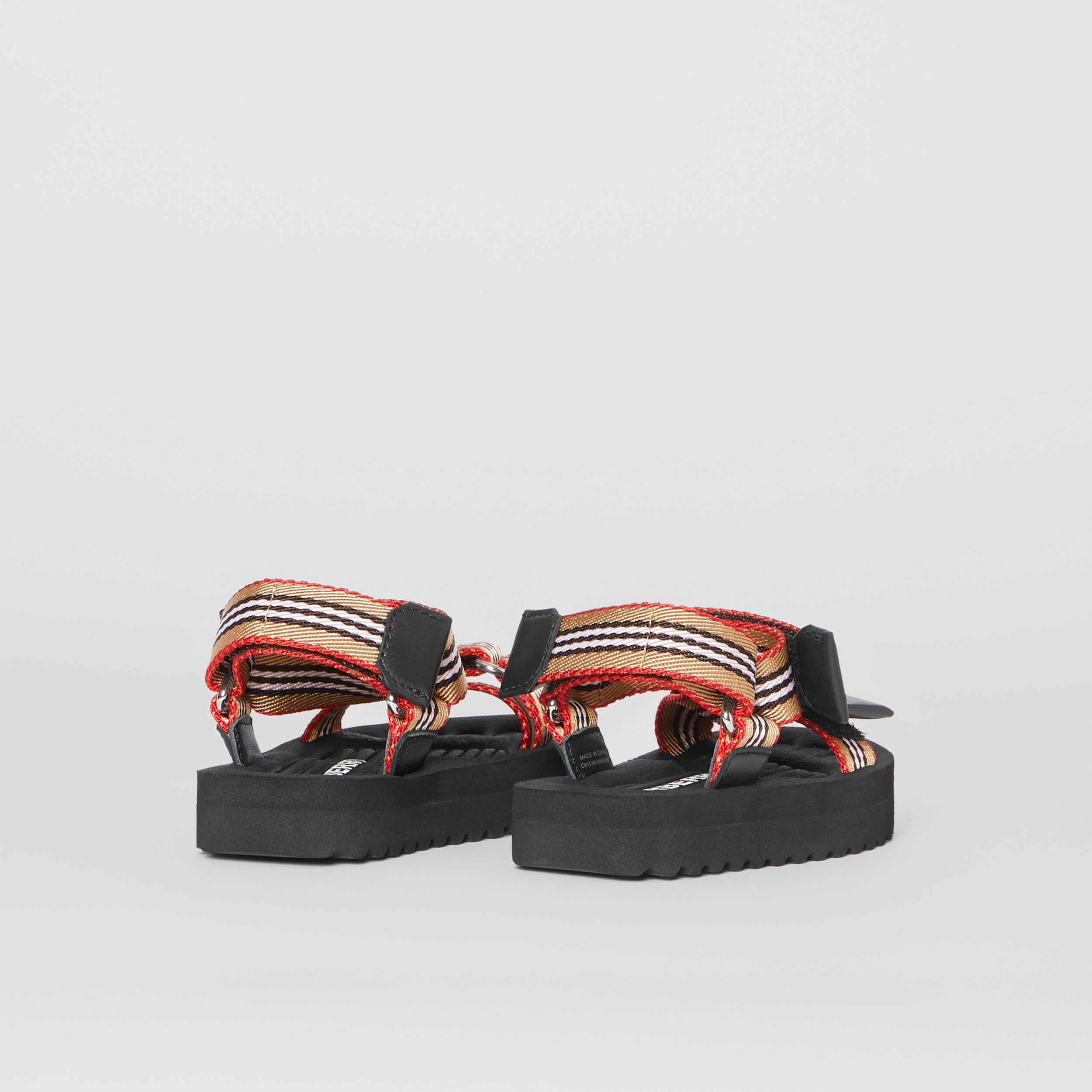 Icon Stripe Sandals in Archive Beige - Children | Burberry United Kingdom - 3