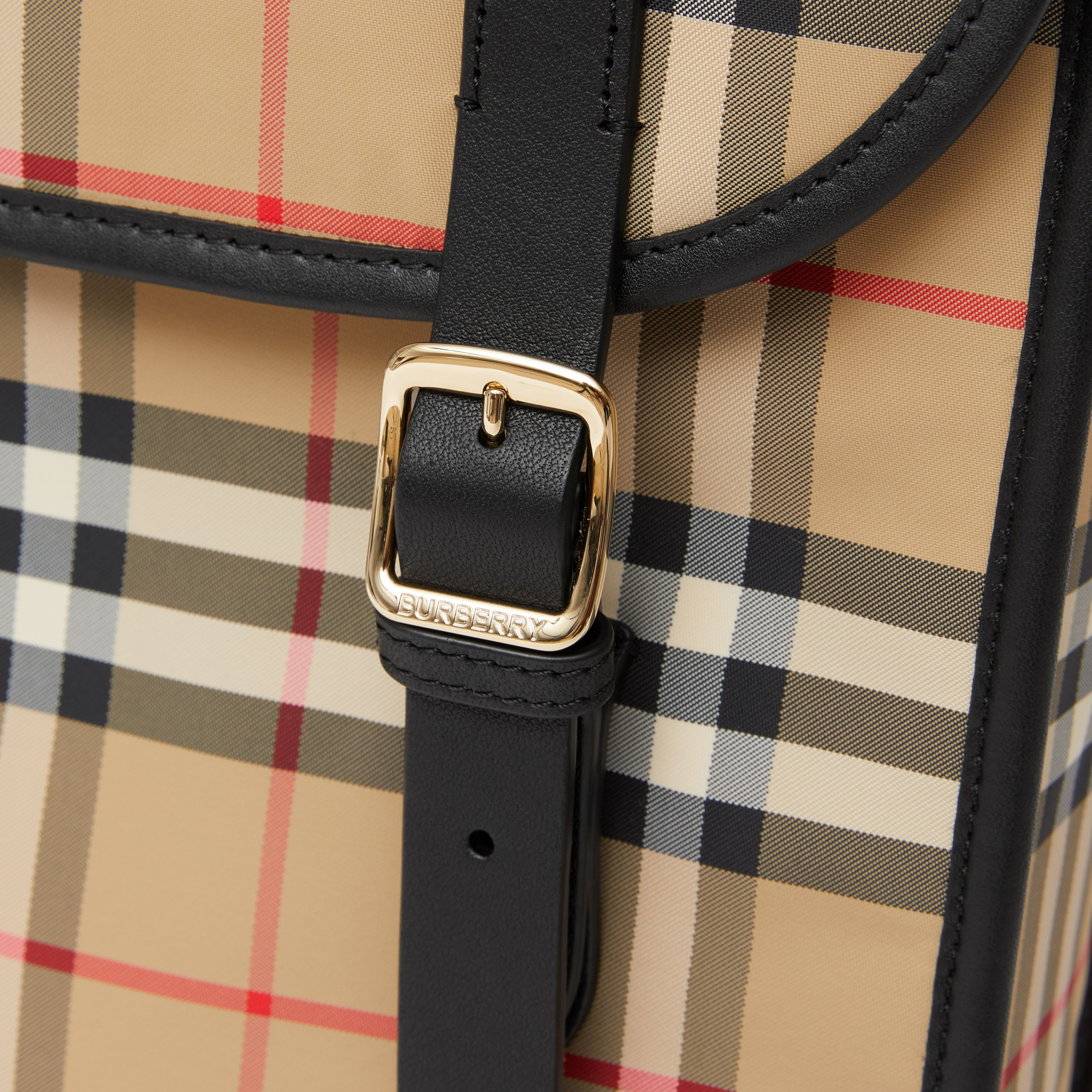 Vintage Check ECONYL® Satchel in Archive Beige - Children | Burberry United States - 2