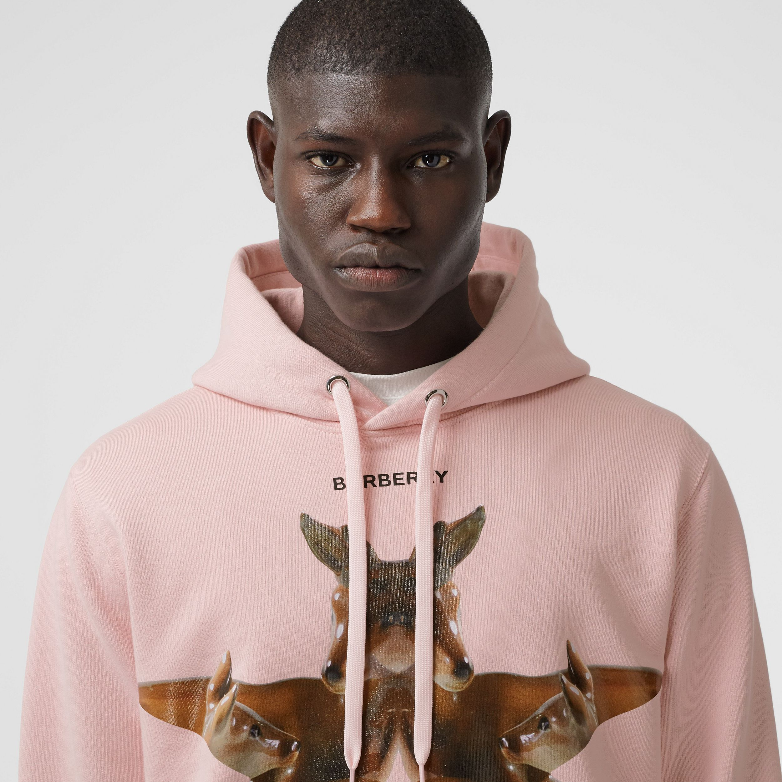Kaleidoscope Print Cotton Hoodie in Frosted Pink - Men | Burberry - 2