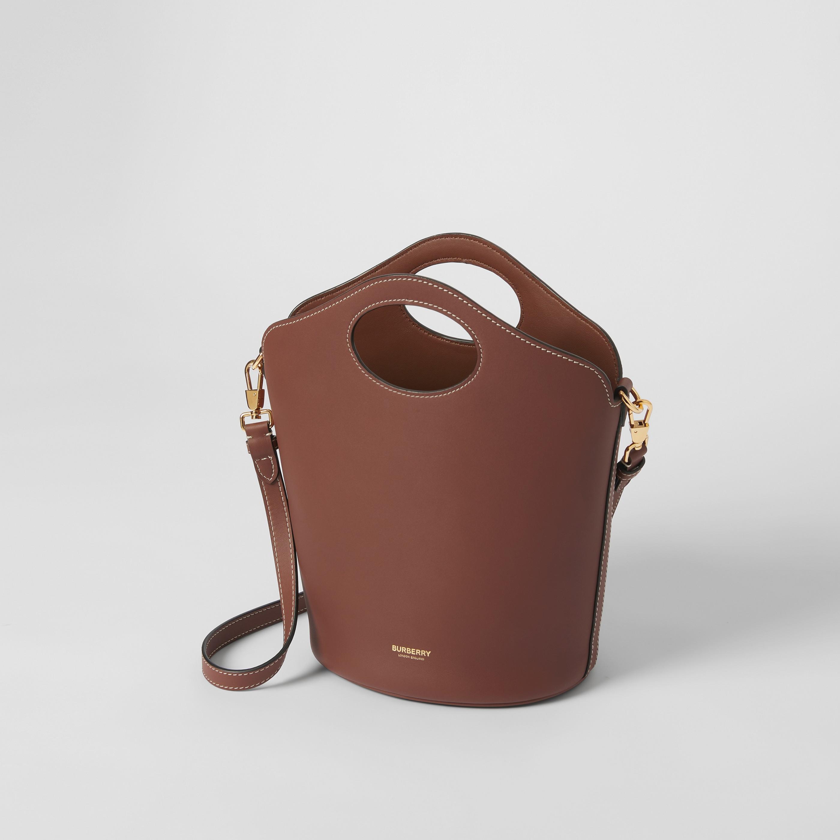 Borsa Pocket a secchiello piccola in pelle (Marroncino) - Donna   Burberry - 4
