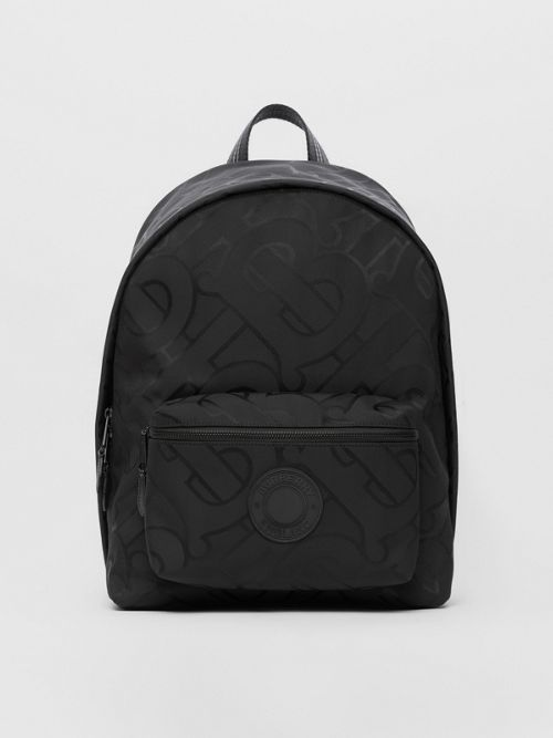 BURBERRY MONOGRAM RECYCLED POLYESTER JACQUARD BACKPACK