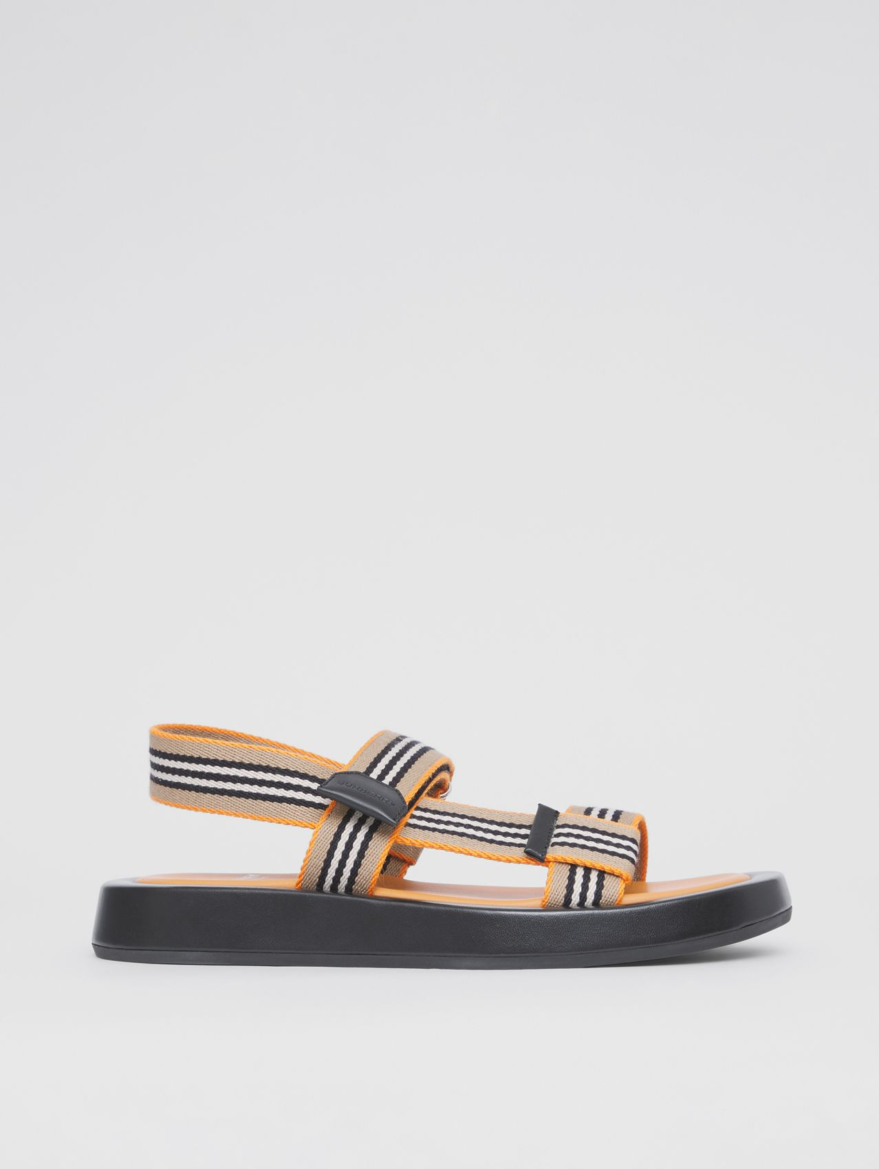 Icon Stripe Sandals in Deep Orange