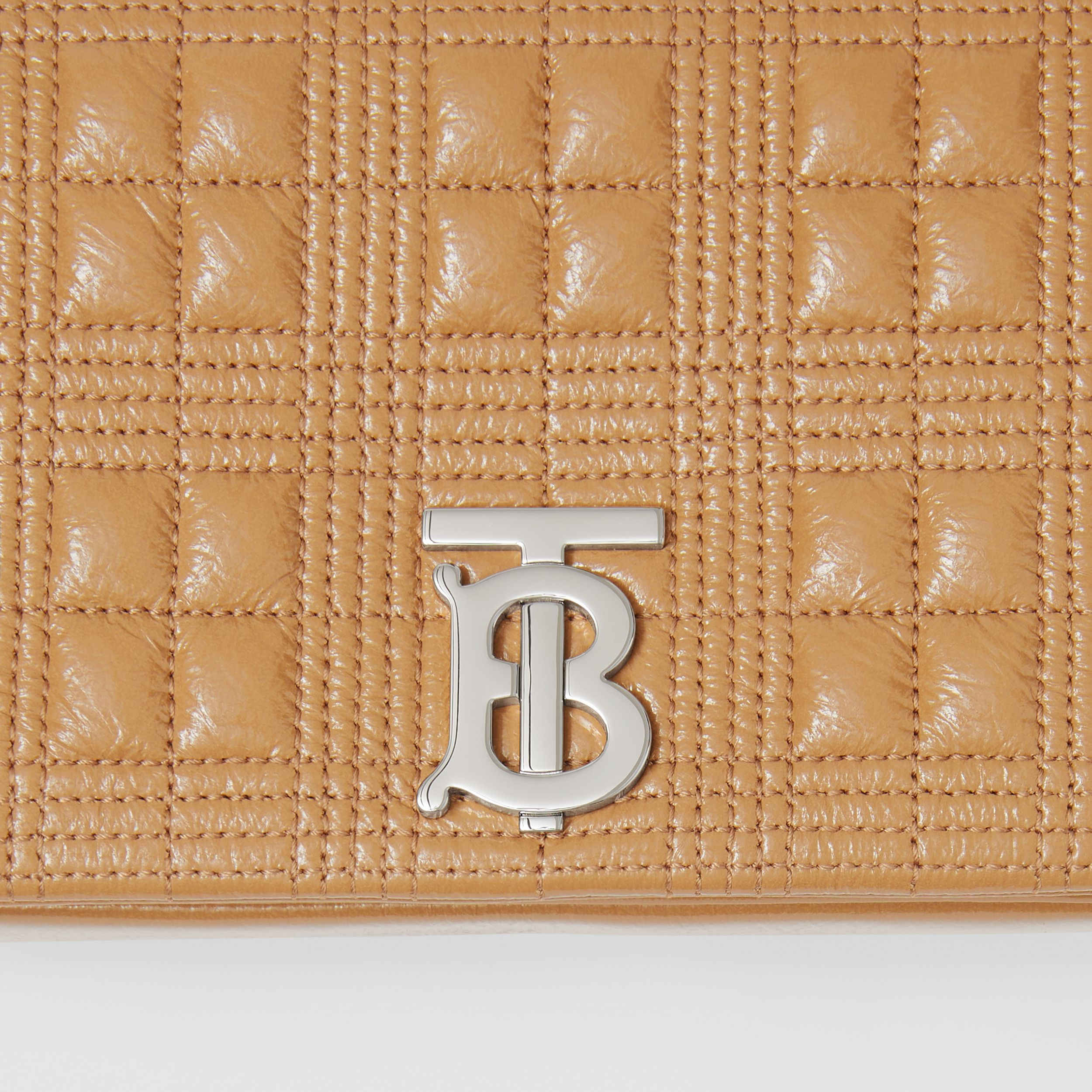 Small Quilted Lambskin Lola Bag in Camel - Women | Burberry Singapore - 2