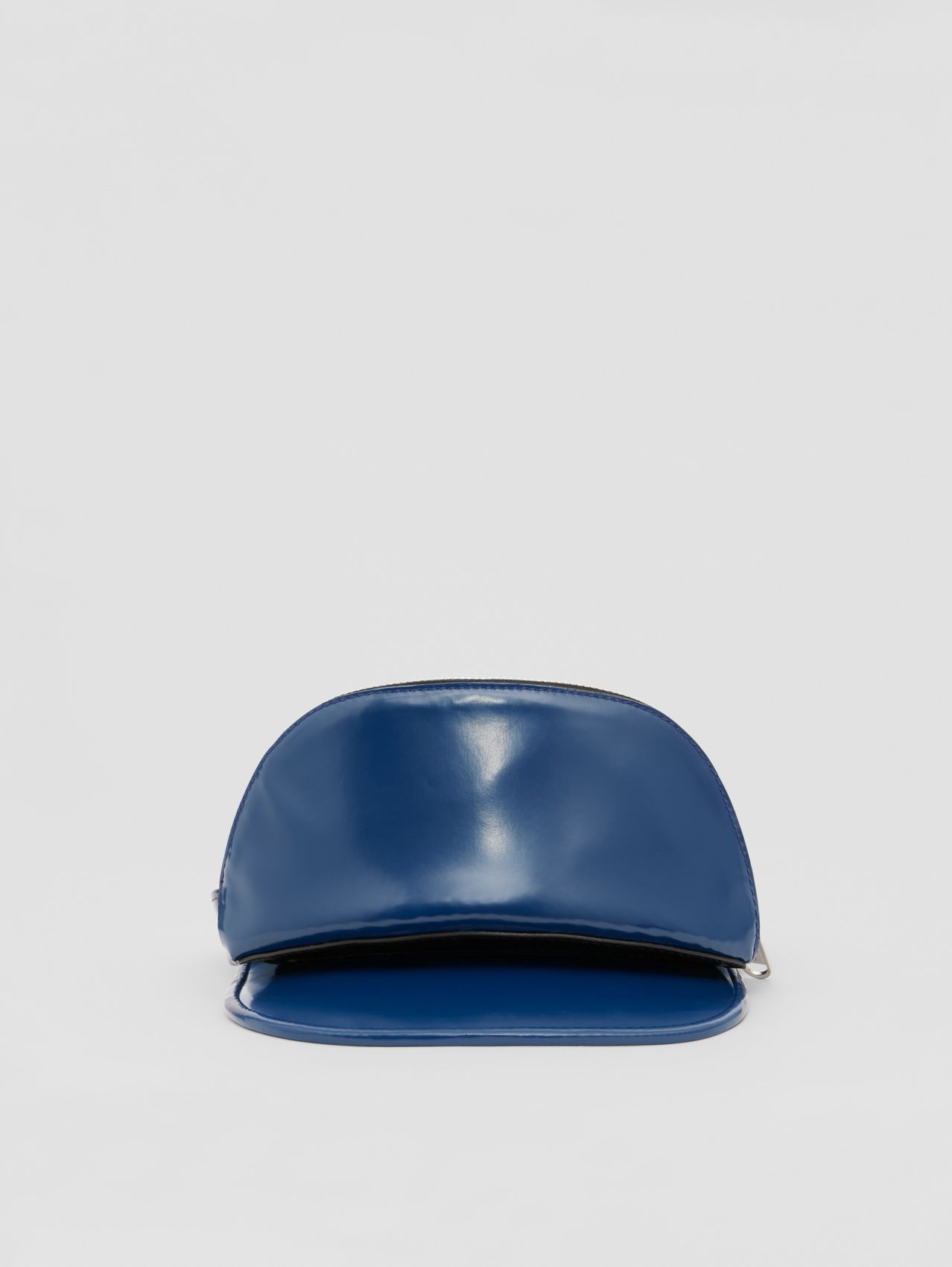 Vinyl Visor with Detachable Zip Pocket in Ink Blue