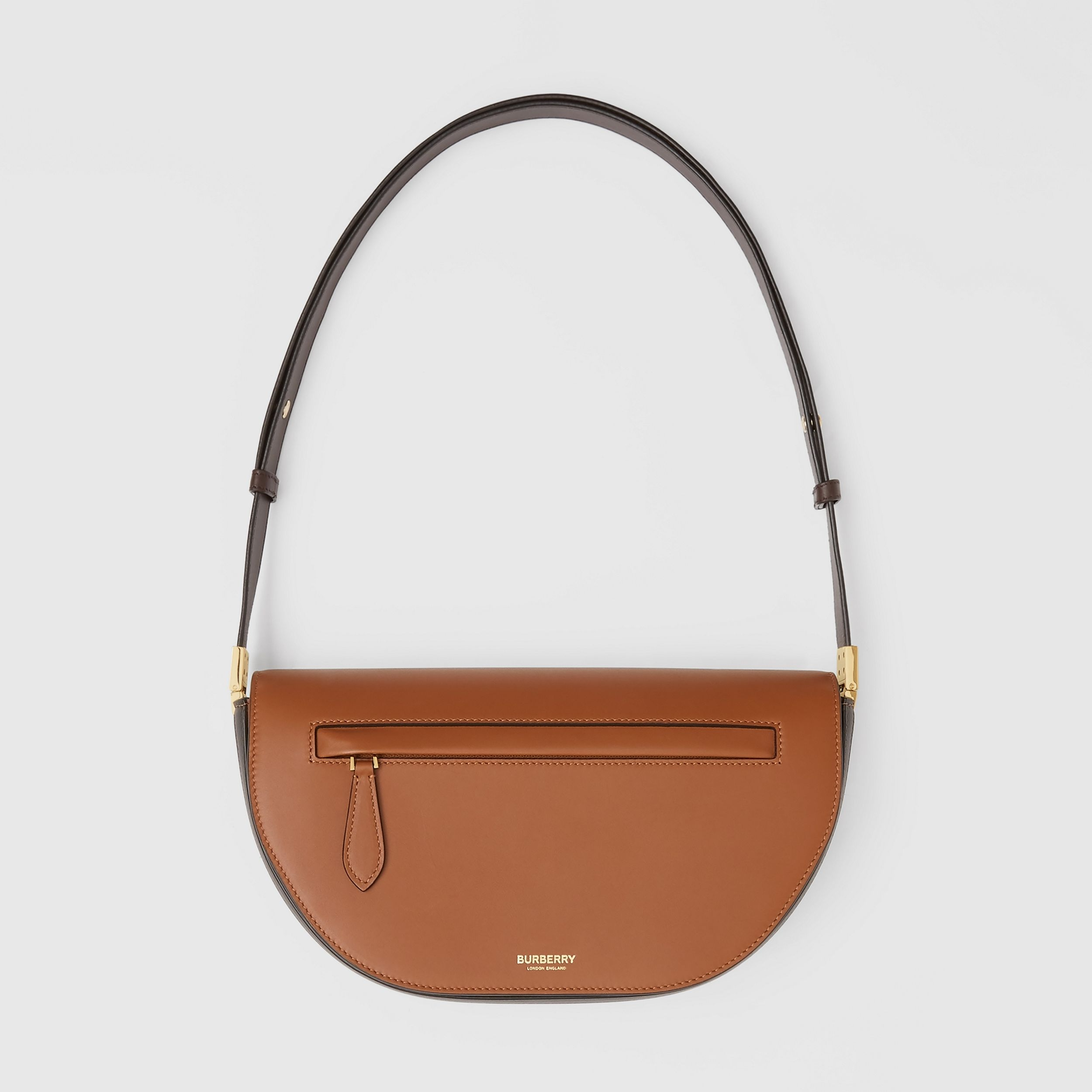 Small Two-tone Leather Olympia Bag in Warm Tan | Burberry United States - 1