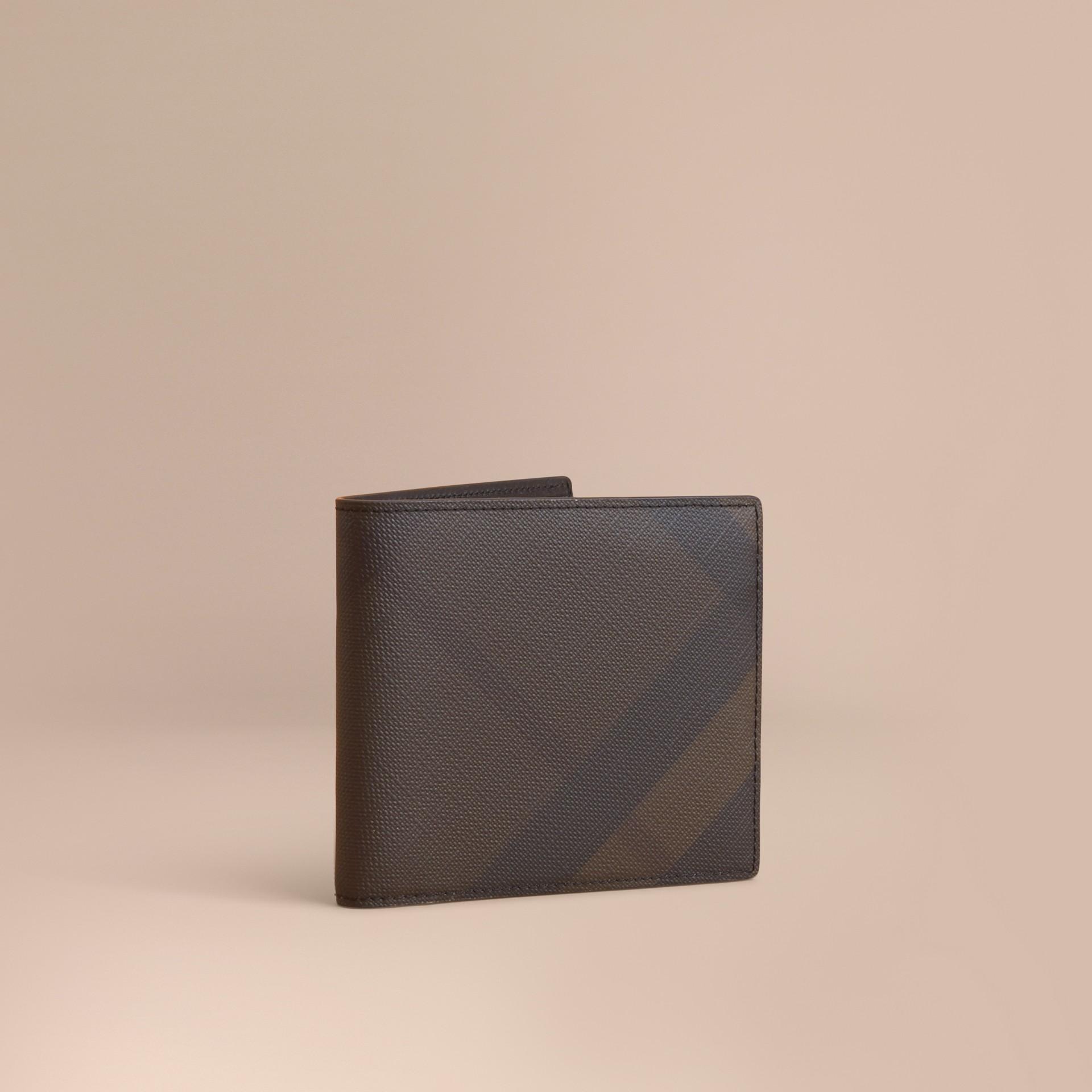 London Check Folding Wallet Chocolate/black - gallery image 1