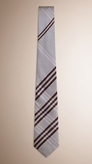 Cravate classique en soie à motif check