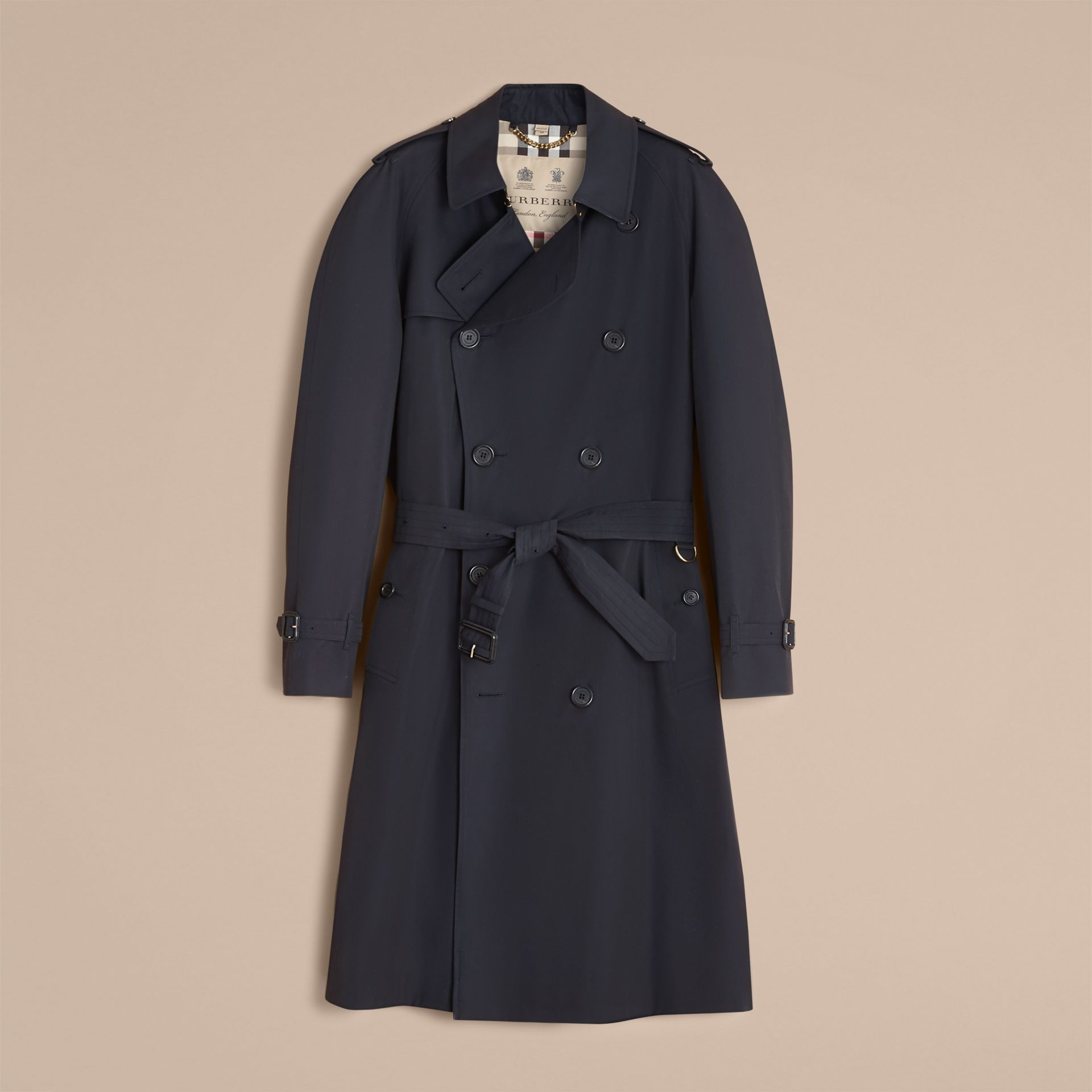Navy The Westminster – Long Heritage Trench Coat Navy - gallery image 5