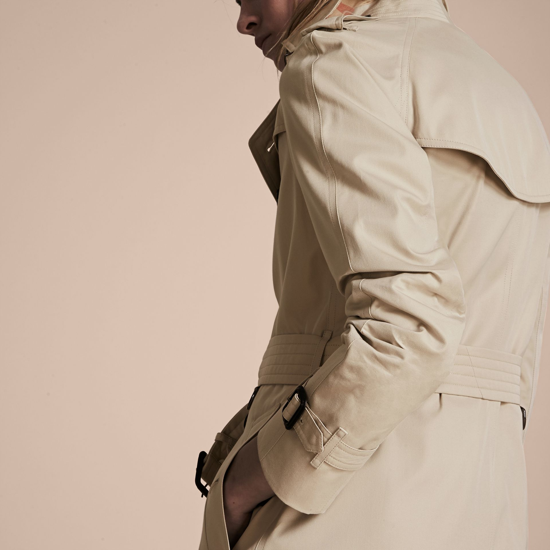Stone The Westminster – Mid-Length Heritage Trench Coat Stone - gallery image 5