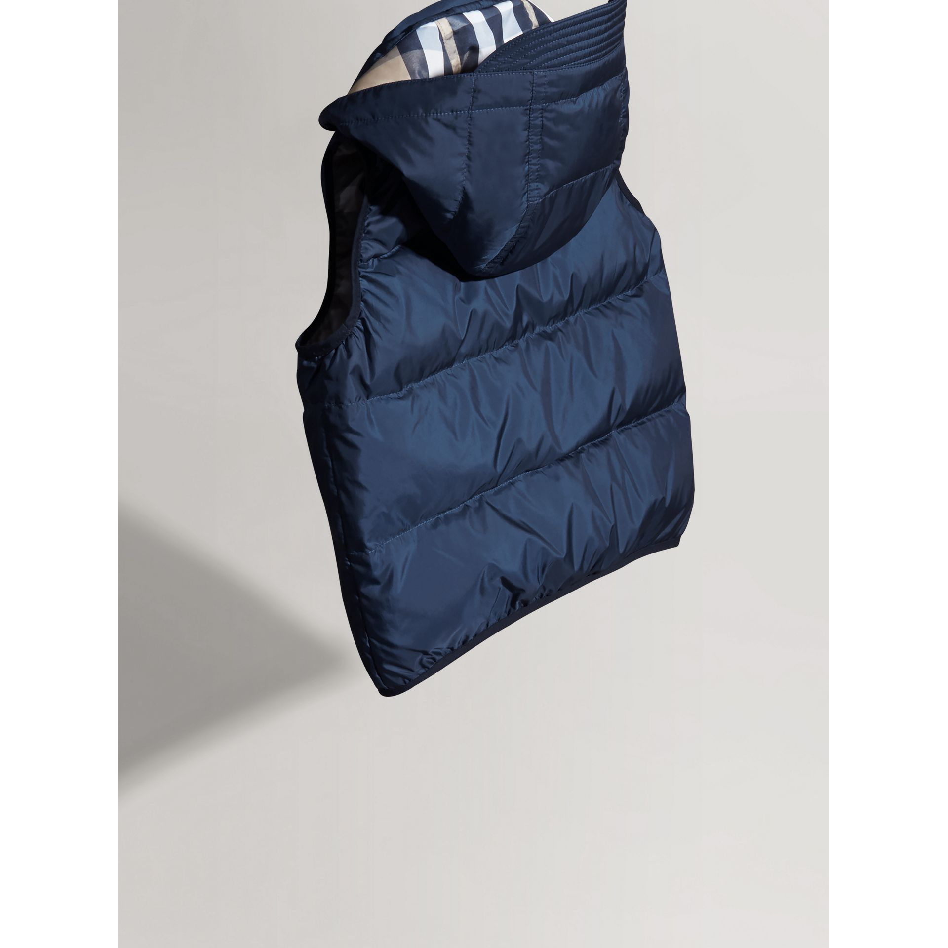 Down-filled Hooded Gilet in Ink Blue - Boy | Burberry United States - gallery image 3
