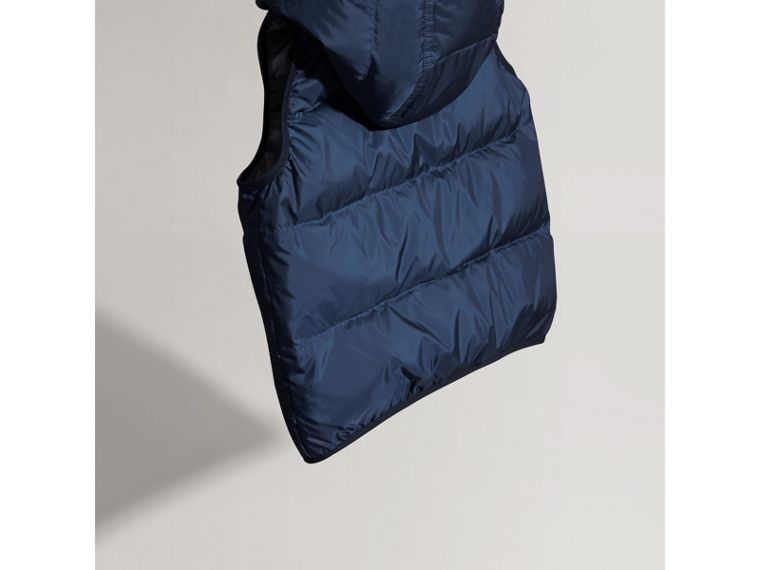 Down-filled Hooded Gilet in Ink Blue - Boy | Burberry United States - cell image 2