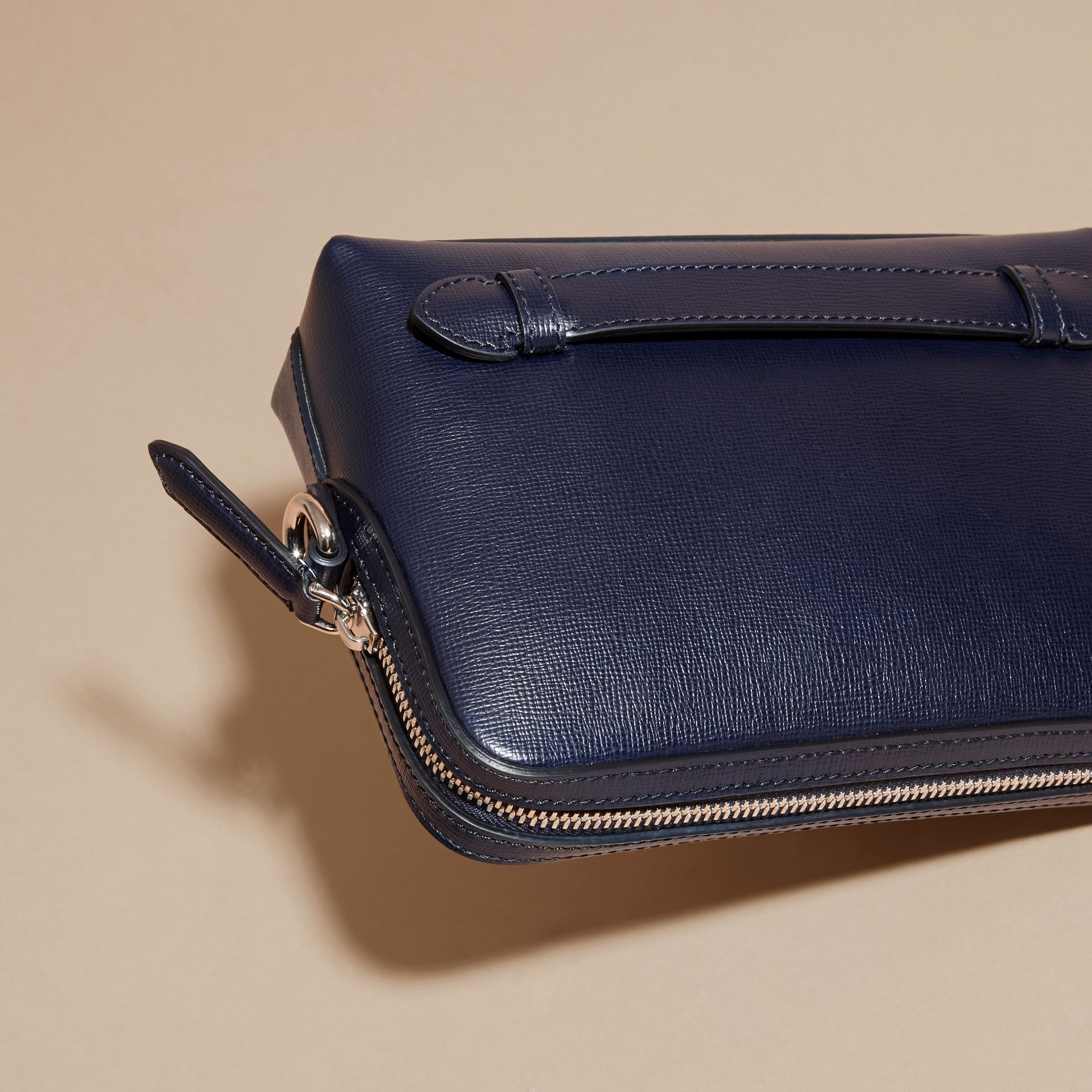 London Leather Pouch in Dark Navy - Men | Burberry - gallery image 4