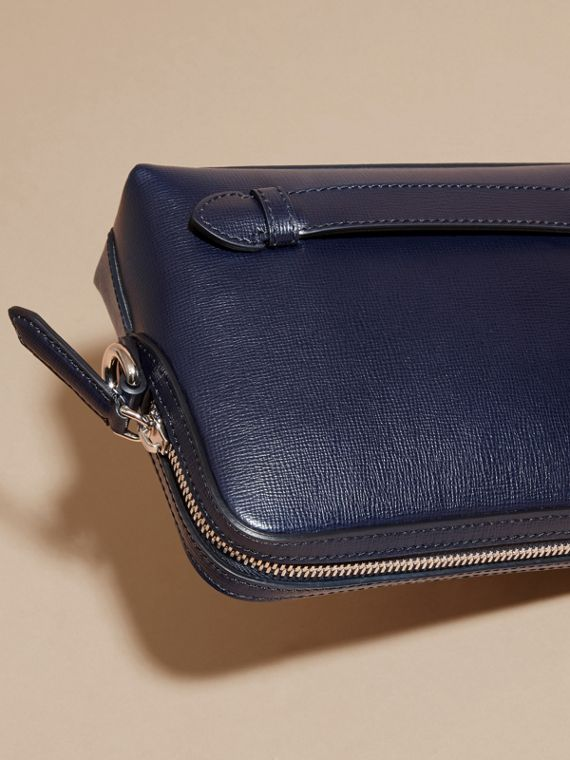 London Leather Pouch in Dark Navy - Men | Burberry Australia - cell image 3