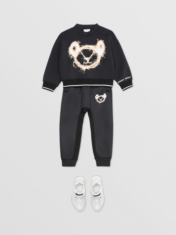 スパークラープリント ネオプレン スウェットシャツ (ブラック) | バーバリー - cell image 2