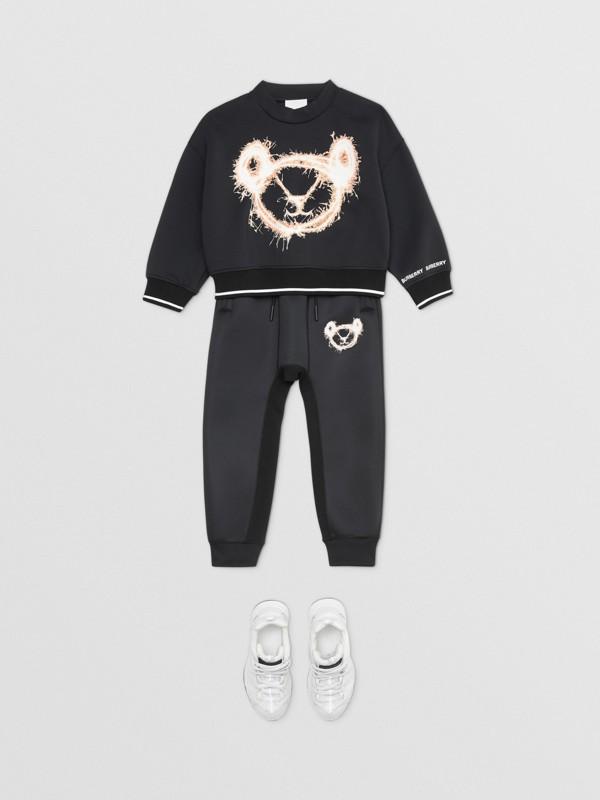 Sparkler Print Neoprene Sweatshirt in Black | Burberry Hong Kong S.A.R - cell image 2