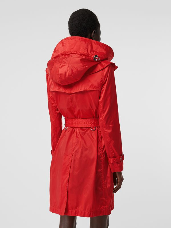 Detachable Hood ECONYL® Trench Coat in Bright Red - Women | Burberry United Kingdom - cell image 2