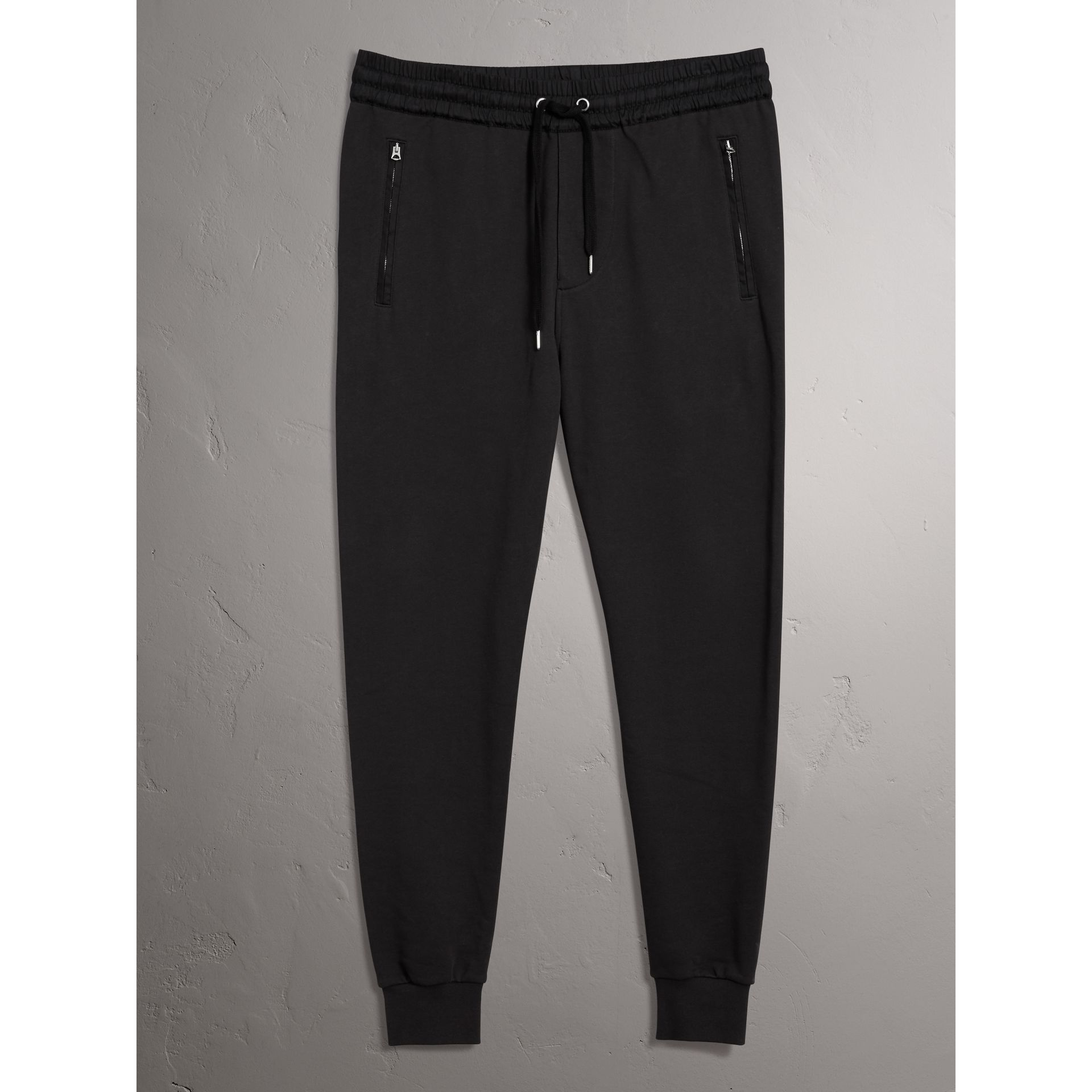 Cotton Sweatpants in Black - Men | Burberry Australia - gallery image 3