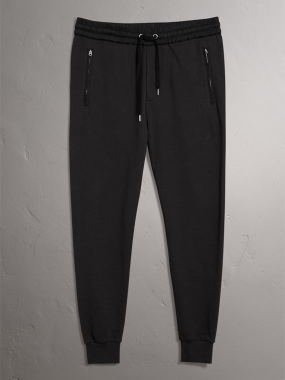 Cotton Sweatpants in Black - Men | Burberry Australia - cell image 3