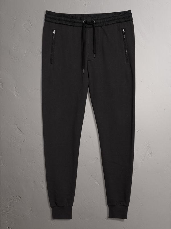 Cotton Sweatpants in Black - Men | Burberry United Kingdom - cell image 3