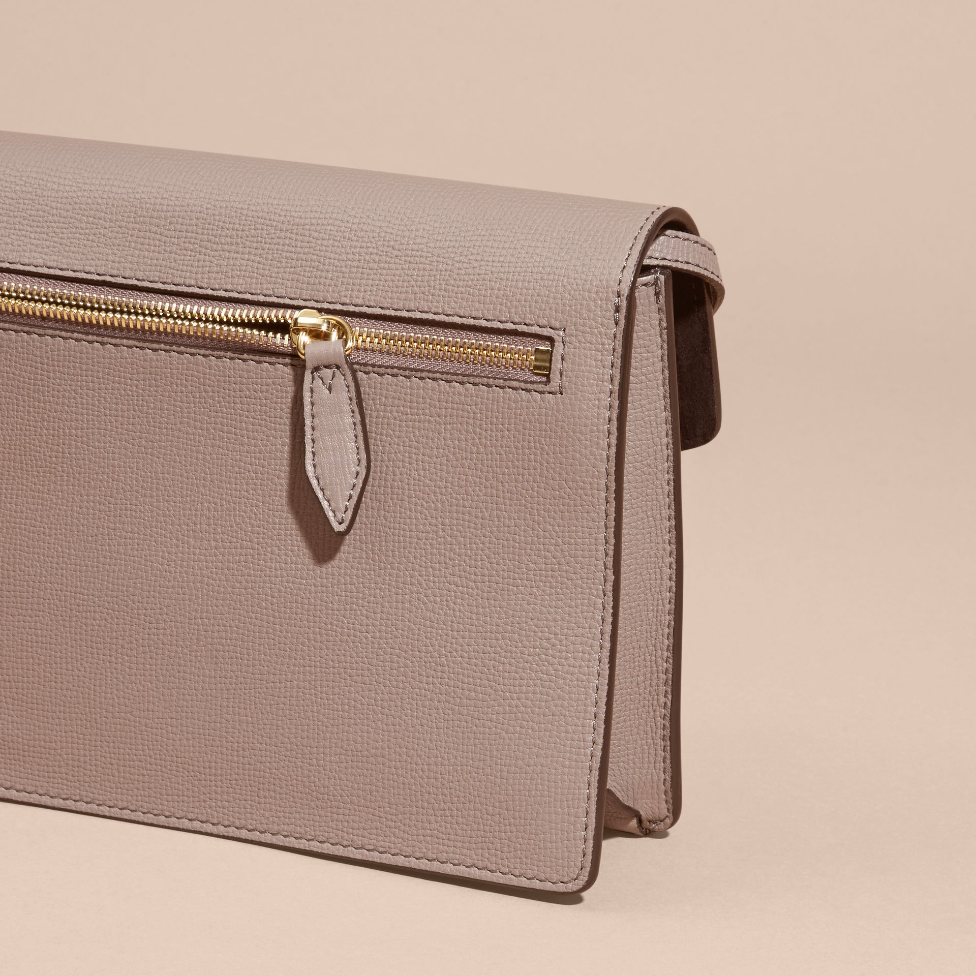 Small Leather and House Check Crossbody Bag Thistle Grey - gallery image 4