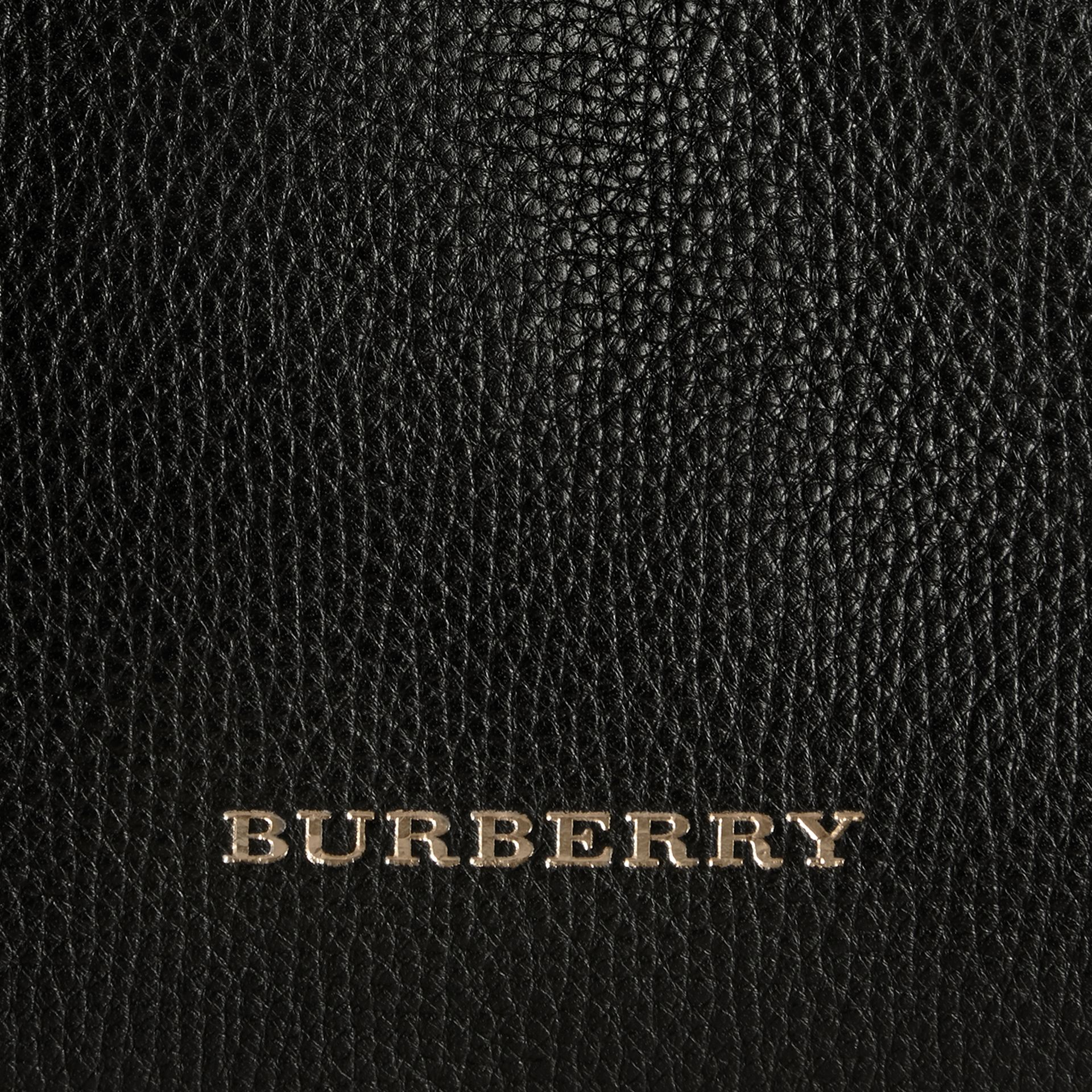 House Check and Leather Baby Changing Bag in Black | Burberry - gallery image 2