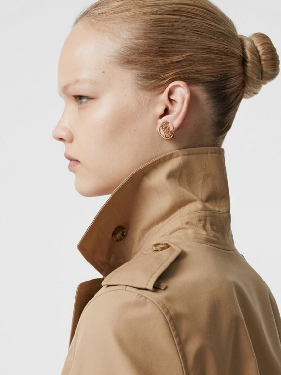 Cotton Gabardine Trench Coat in Biscuit - Women | Burberry - cell image 1