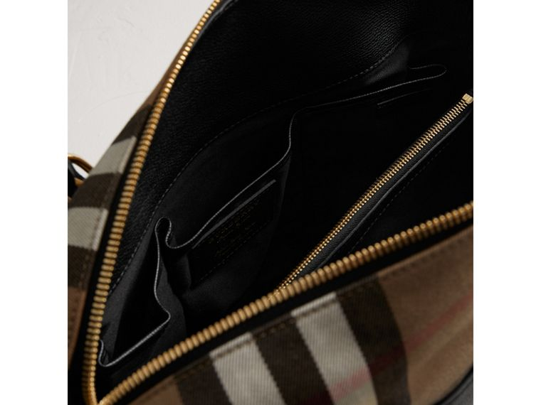 House Check and Leather Baby Changing Bag in Black | Burberry United States - cell image 4