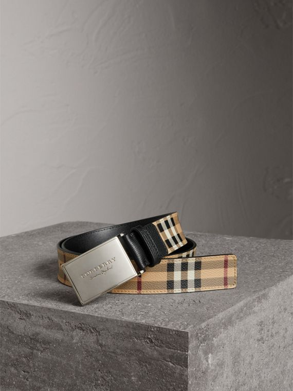 Haymarket Check Belt in Black