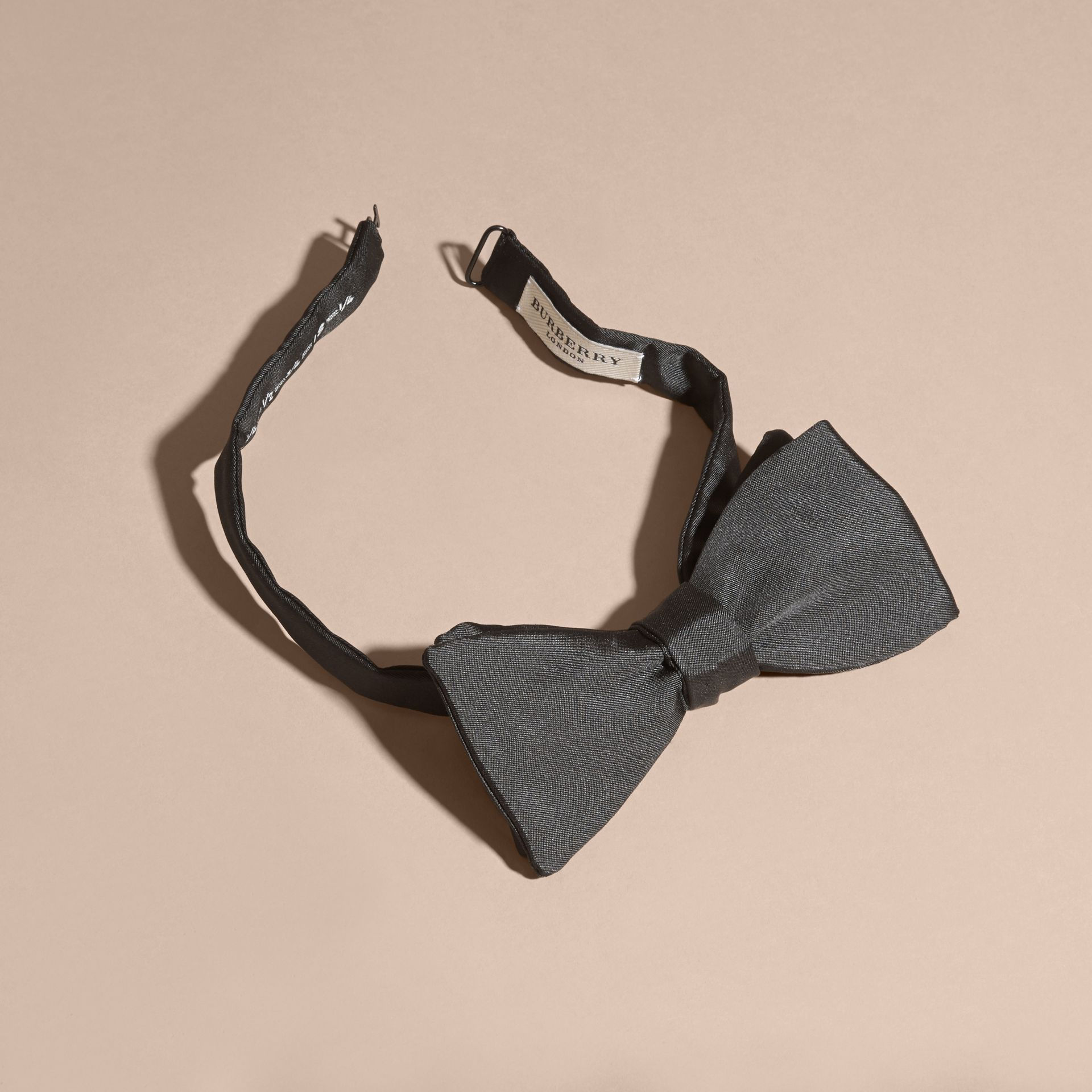 Black Silk Self-Tie Bow Tie - gallery image 2