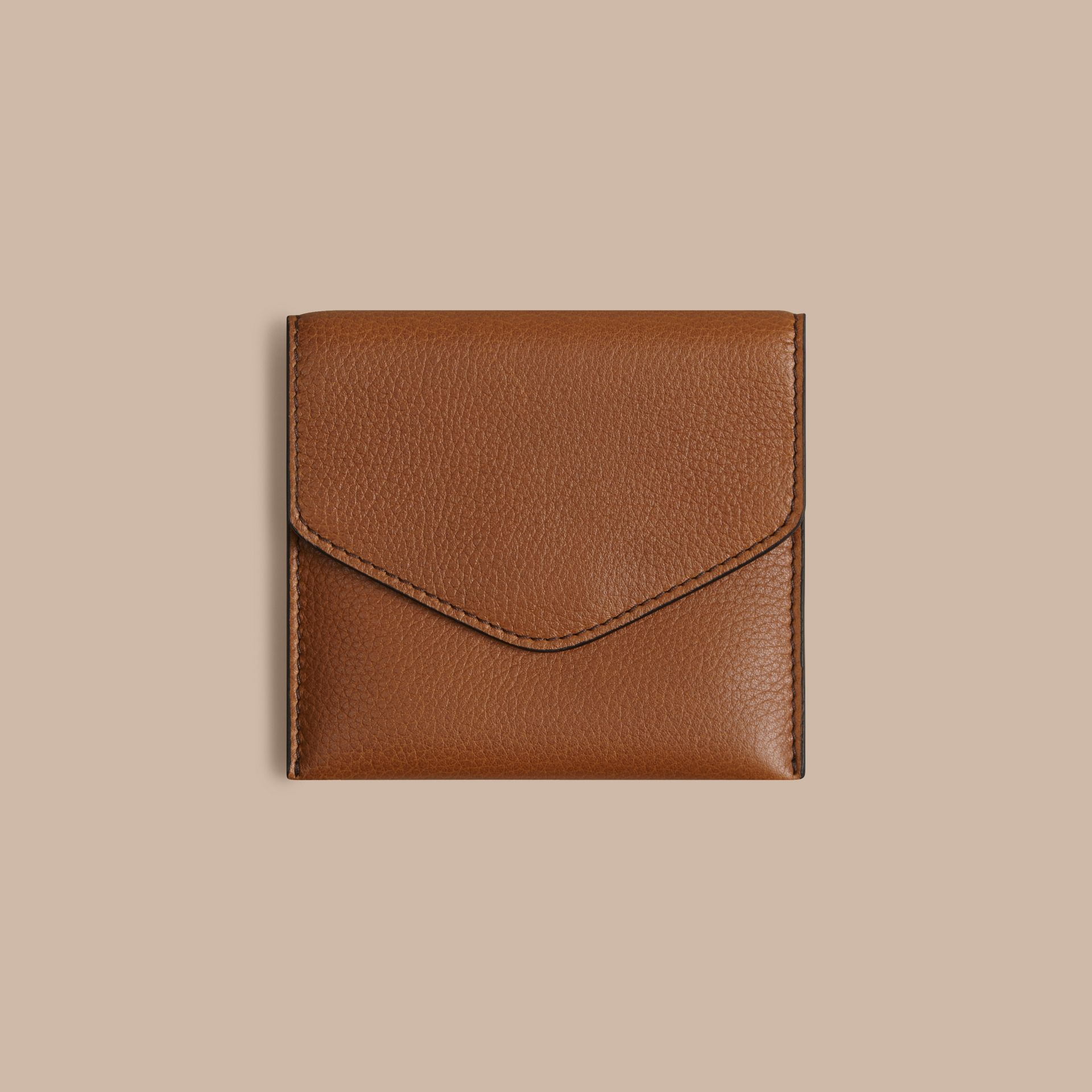 Tan Grainy Leather Cufflink Case Tan - gallery image 2