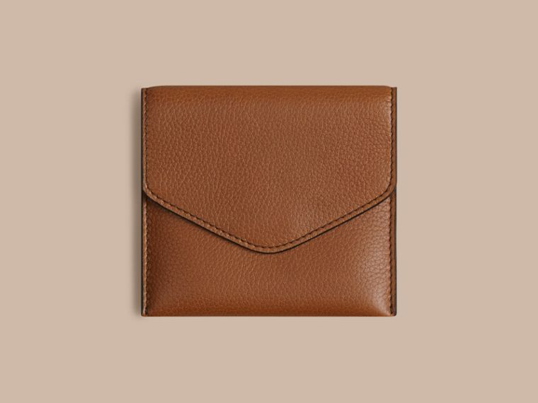 Grainy Leather Cufflink Case in Tan - Men | Burberry - cell image 1