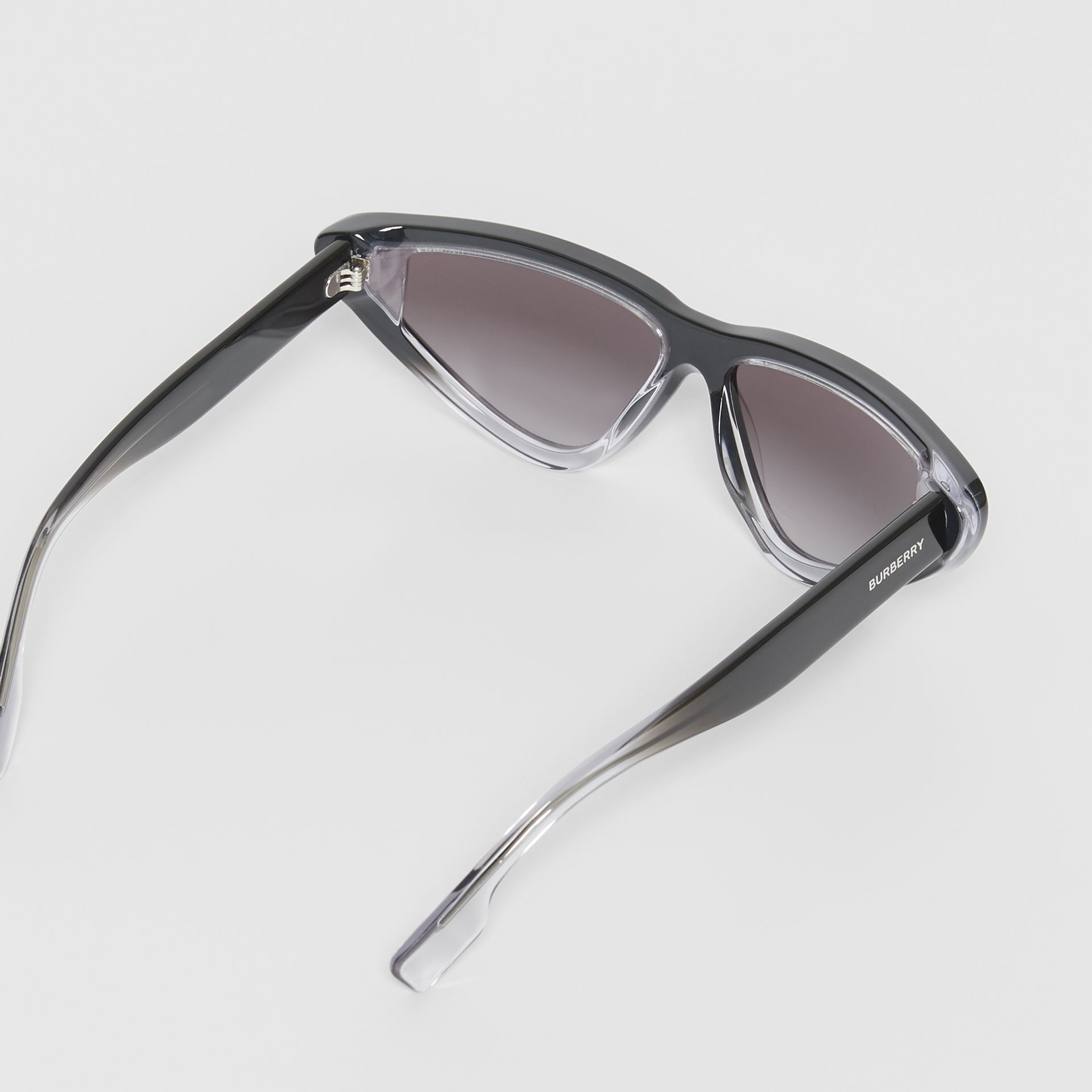 Gradient Detail Triangular Frame Sunglasses in Black - Women | Burberry Hong Kong S.A.R - gallery image 4