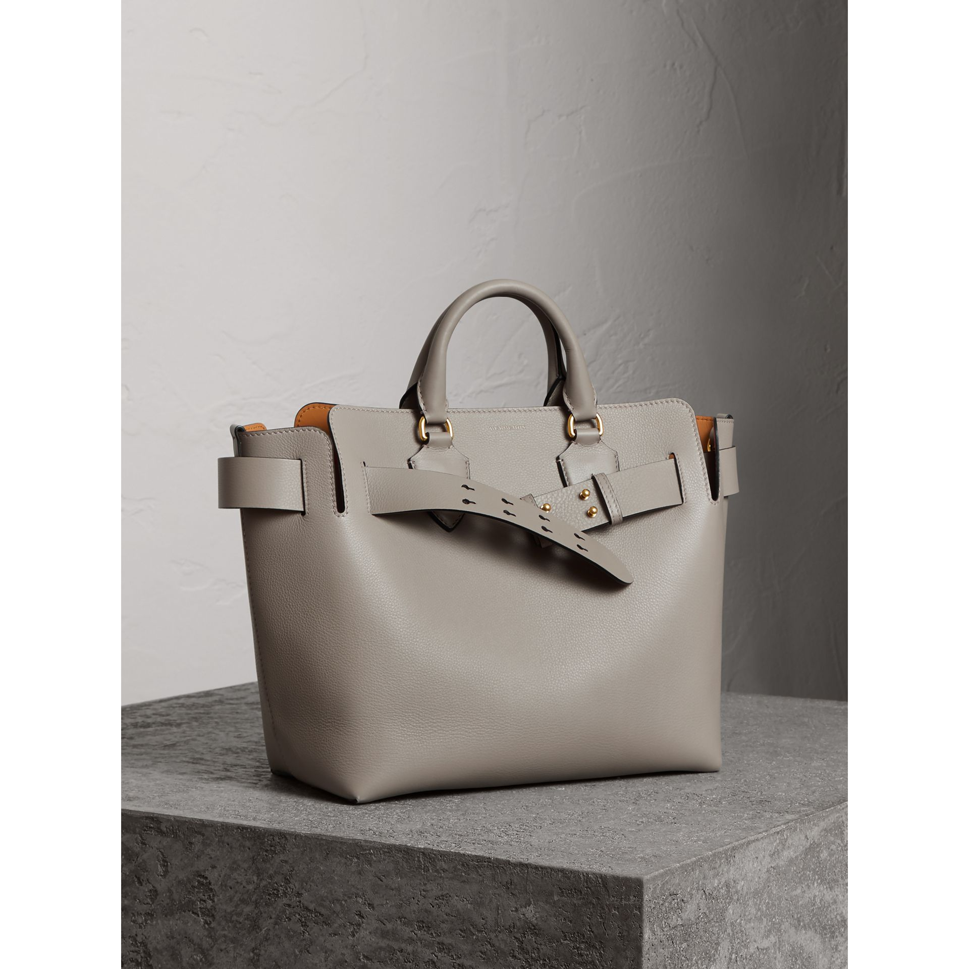 The Medium Leather Belt Bag in Mineral Grey - Women | Burberry - gallery image 8