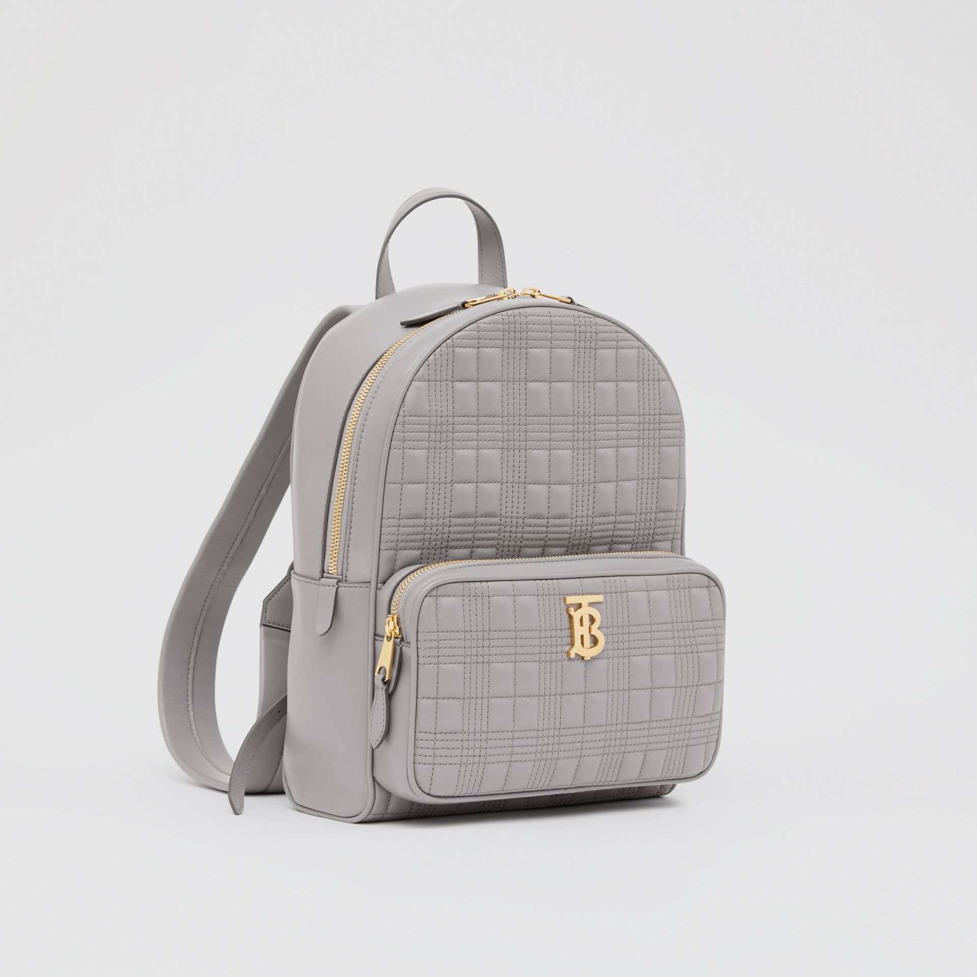 Quilted Lambskin Backpack in Cloud Grey - Women | Burberry United States - gallery image 6