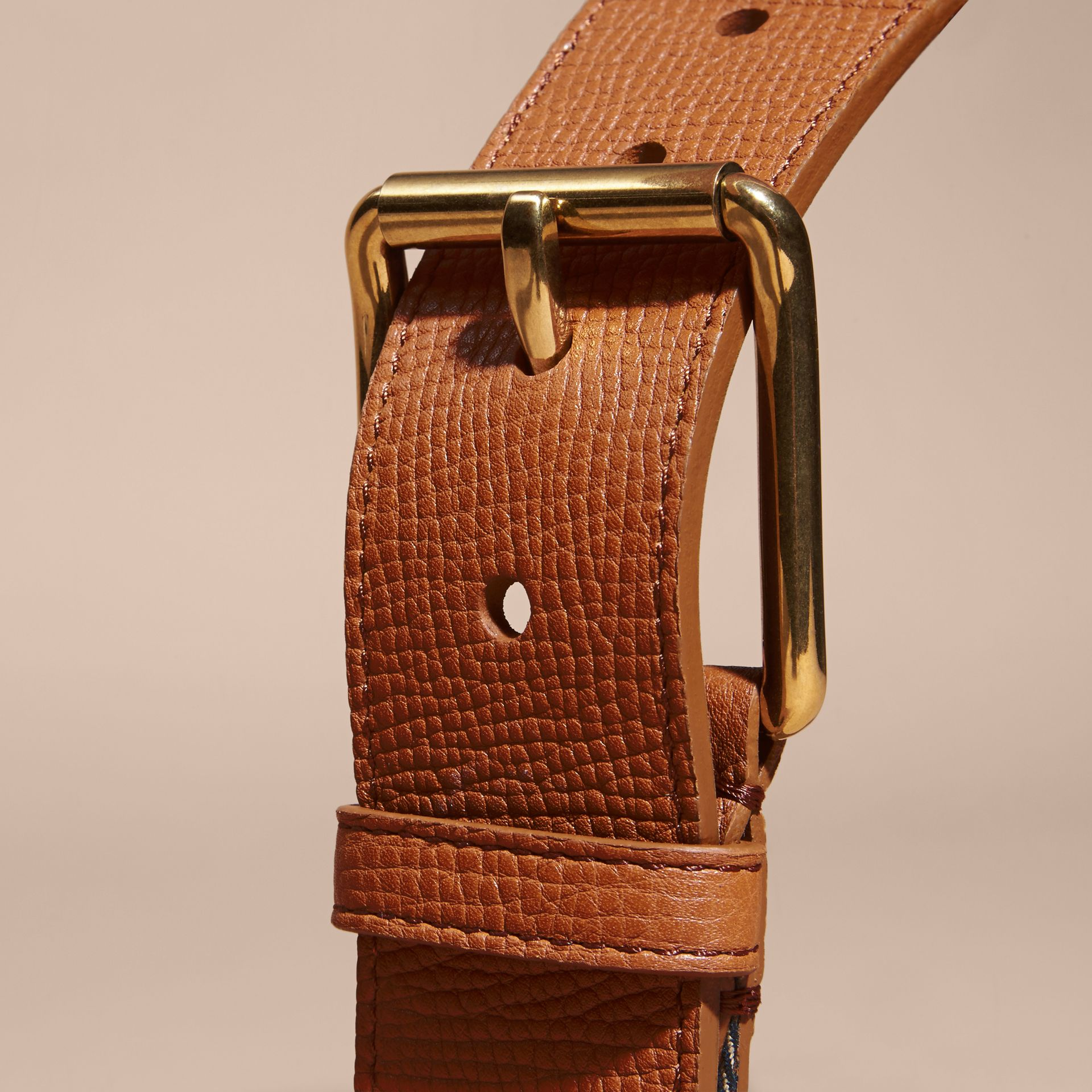 House Check and Leather Belt Russet - gallery image 4
