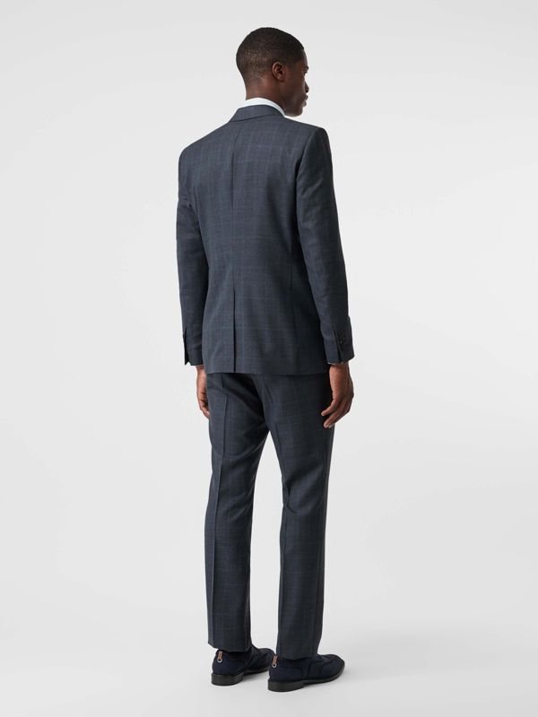 Classic Fit Windowpane Check Wool Suit in Light Navy - Men | Burberry - cell image 2