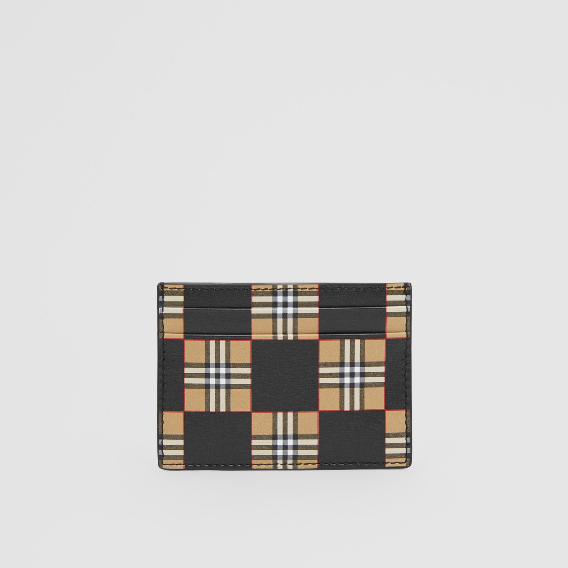 チェッカープリント レザー カードケース (アーカイブベージュ/ブラック) | バーバリー - ギャラリーイメージ 5
