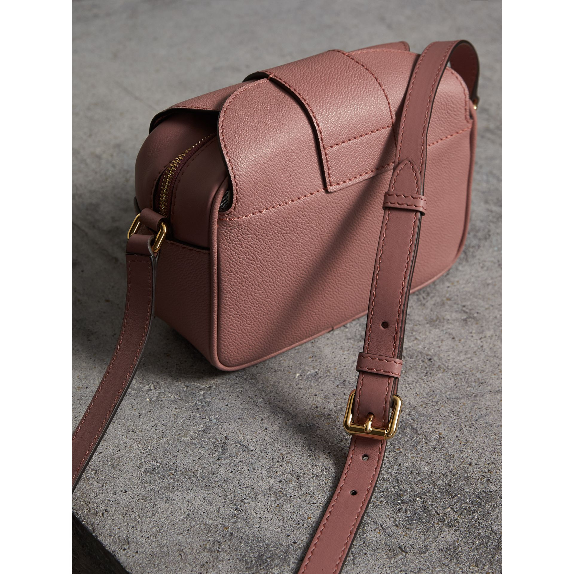 The Small Buckle Crossbody Bag in Leather in Dusty Pink - Women | Burberry - gallery image 4