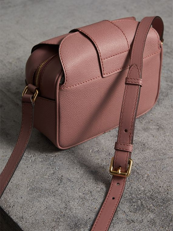 The Small Buckle Crossbody Bag in Leather in Dusty Pink - Women | Burberry - cell image 3
