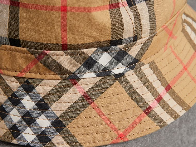 Vintage Check Bucket Hat in Antique Yellow | Burberry Canada - cell image 1