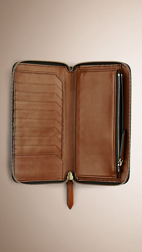 Tan Horseferry Check Ziparound Wallet Tan - Image 4