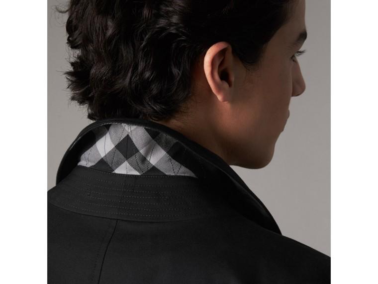 Cotton Gabardine Car Coat in Black - Men | Burberry - cell image 4