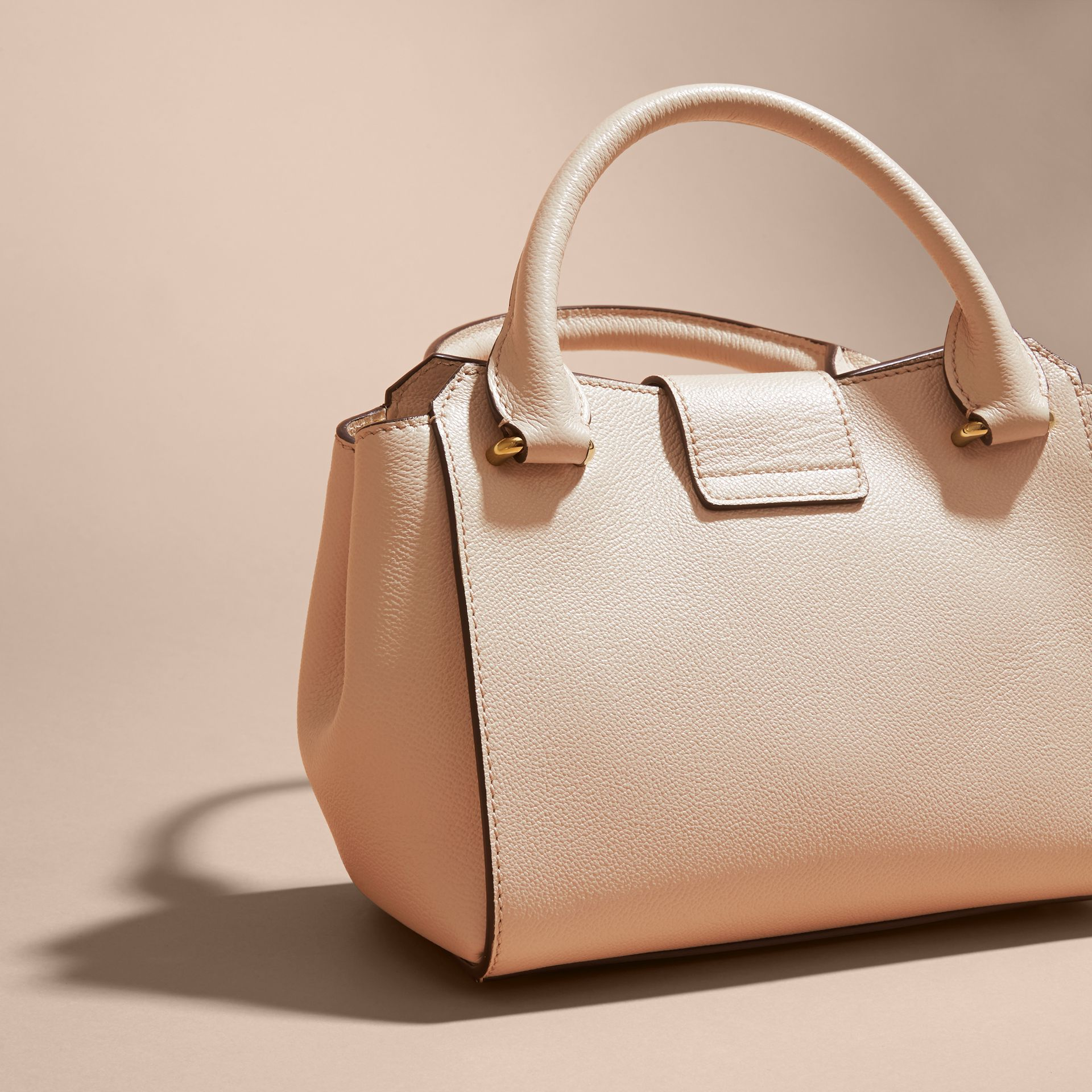 The Small Buckle Tote in Grainy Leather Limestone - gallery image 5